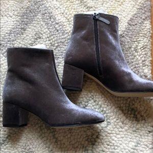 J.Crew Velvet Hadley Boots